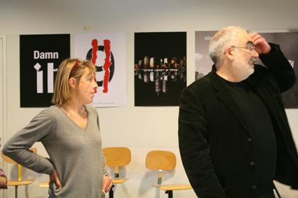 Nathalie Templier à gauche, Alain Le Quernec à droite.