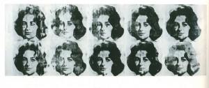 7. Image produite par l'artiste Andy Warhol, icône du mouvement pop-art. Image provenant du blog du lycée Monnet, à Versailles.